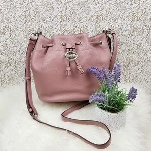NEW! Coach Elle Drawstring Crossbody Dusty Pink